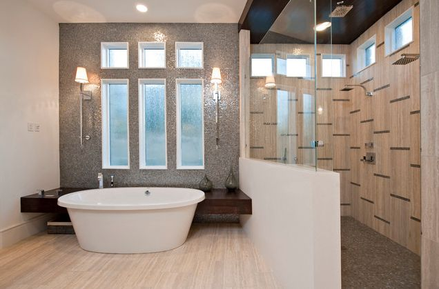 small-bathroom-with-sleek-bathtub-and-walk-in-shower