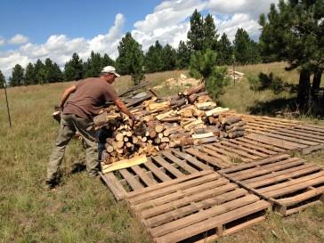 A few pallets of wood