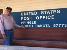 John at the Pringle Post Office