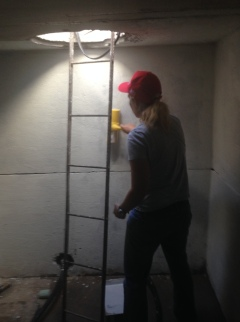 Painting the cistern