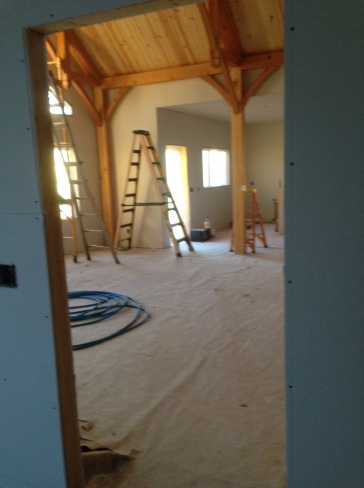 Drywall in the main room