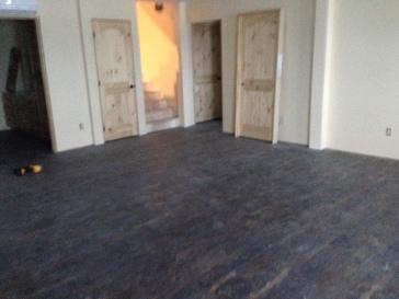 Floor in basement before trim