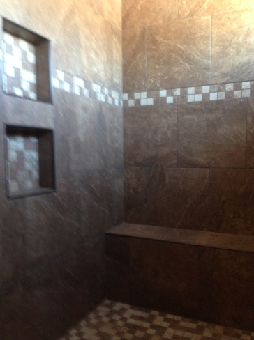 Shower tile complete
