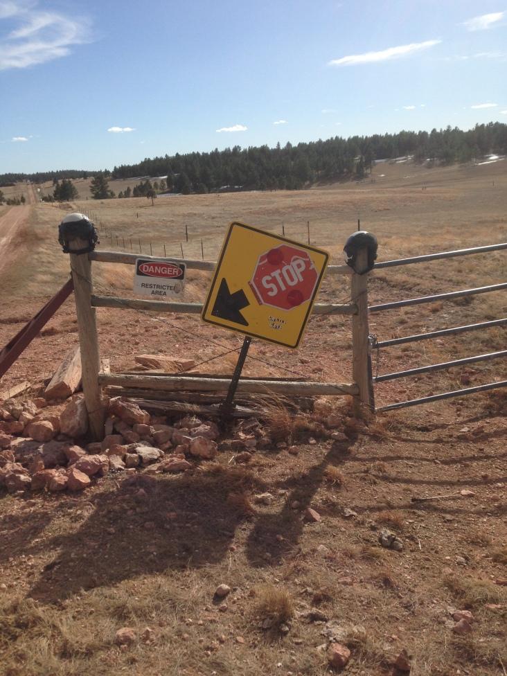 Helmets on Cattle Gate