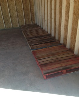 Pallets for stacking wood
