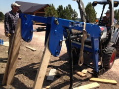 Resting the loader for repositioning