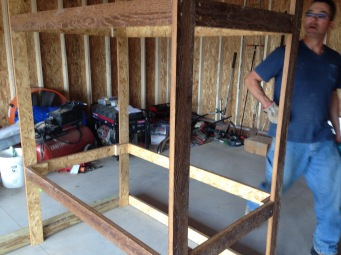 Framing up the coop