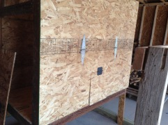 Back of chicken coop - opens to nesting boxes