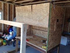 Shelf for nesting boxes