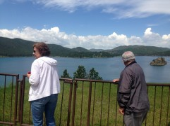 Parents enjoying Pactola Reservoir