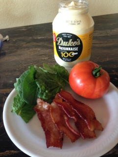 BLT Ingredients, Duke's Mayonaise is the only option