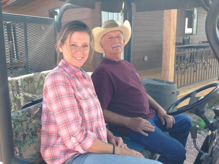 Dave's sister and her husband on a mule ride