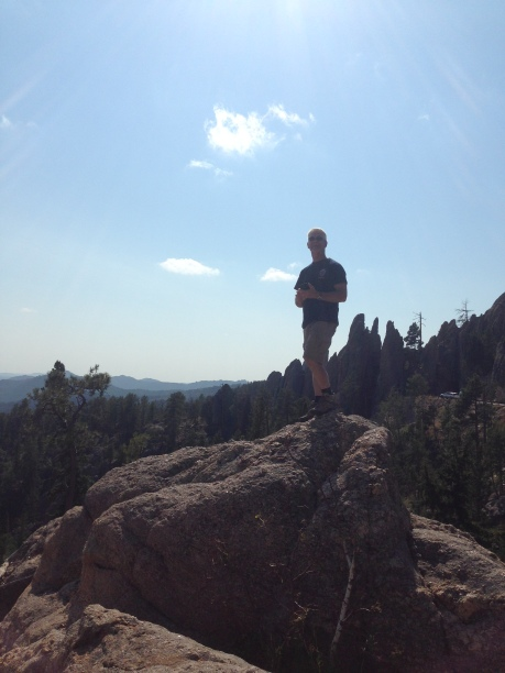 A little mountain climbing on the Needles Highway