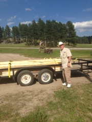 Trailer of lumber from the local sawmill