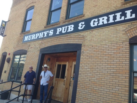 Two old pilots at Murphy's in Rapid City.