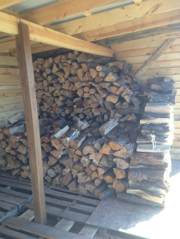 Wood shed getting full