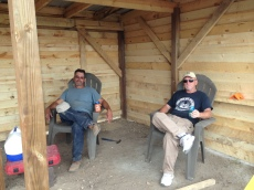Beer thirty in the wood shed, good job gentlemen!