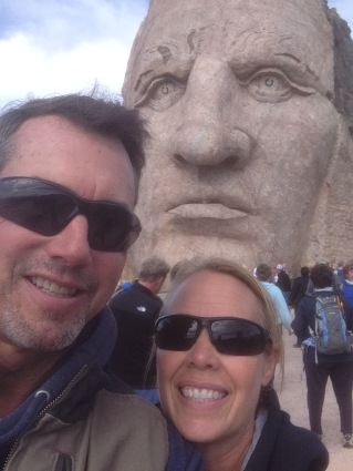 Crazy Horse photobombed our selfie!