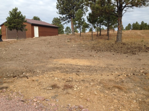 Leveled area in front of house
