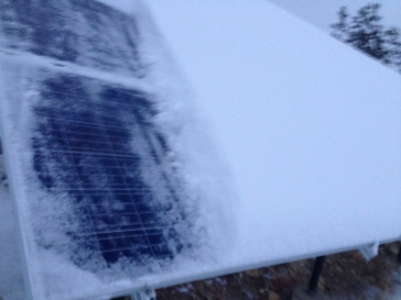 Snow on the panels