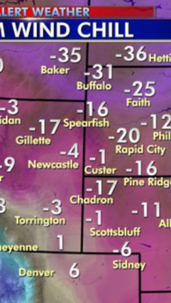 Hey Look! We're the warmest spot in the Black Hills!