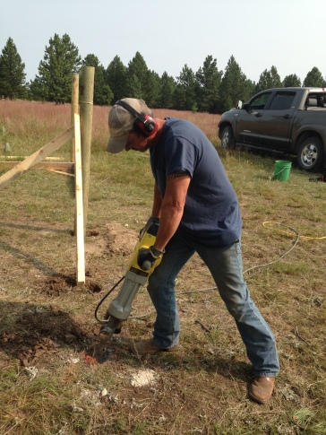 Rancher Dave running the jackhammer