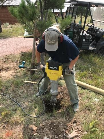 I get to jackhammer too!