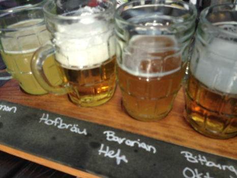 A flight of Montana beer