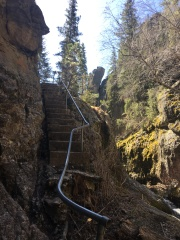 Steep stairs to climb