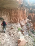 Hiking down the North Rim